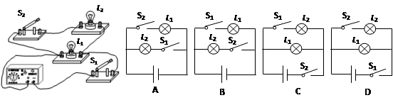 图中的电路图和实物图相对应的是( )